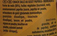 Pringles Tortilla Chips Paprika - Ingrédients - fr