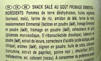 Tuiles Pringles Emmental - Ingrédients - fr