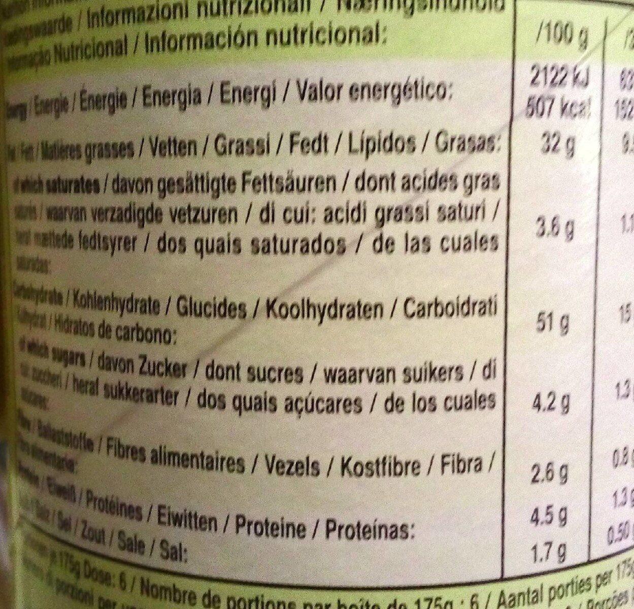 Tuiles Pringles Emmental - Informations nutritionnelles - fr