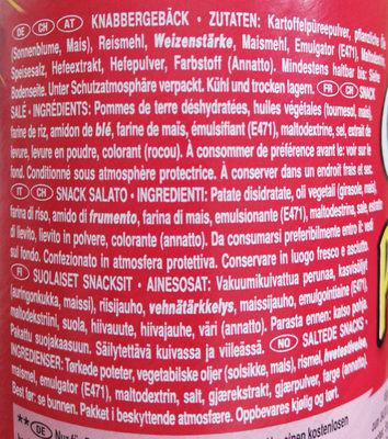 Pringles Original - Ingredienti - de
