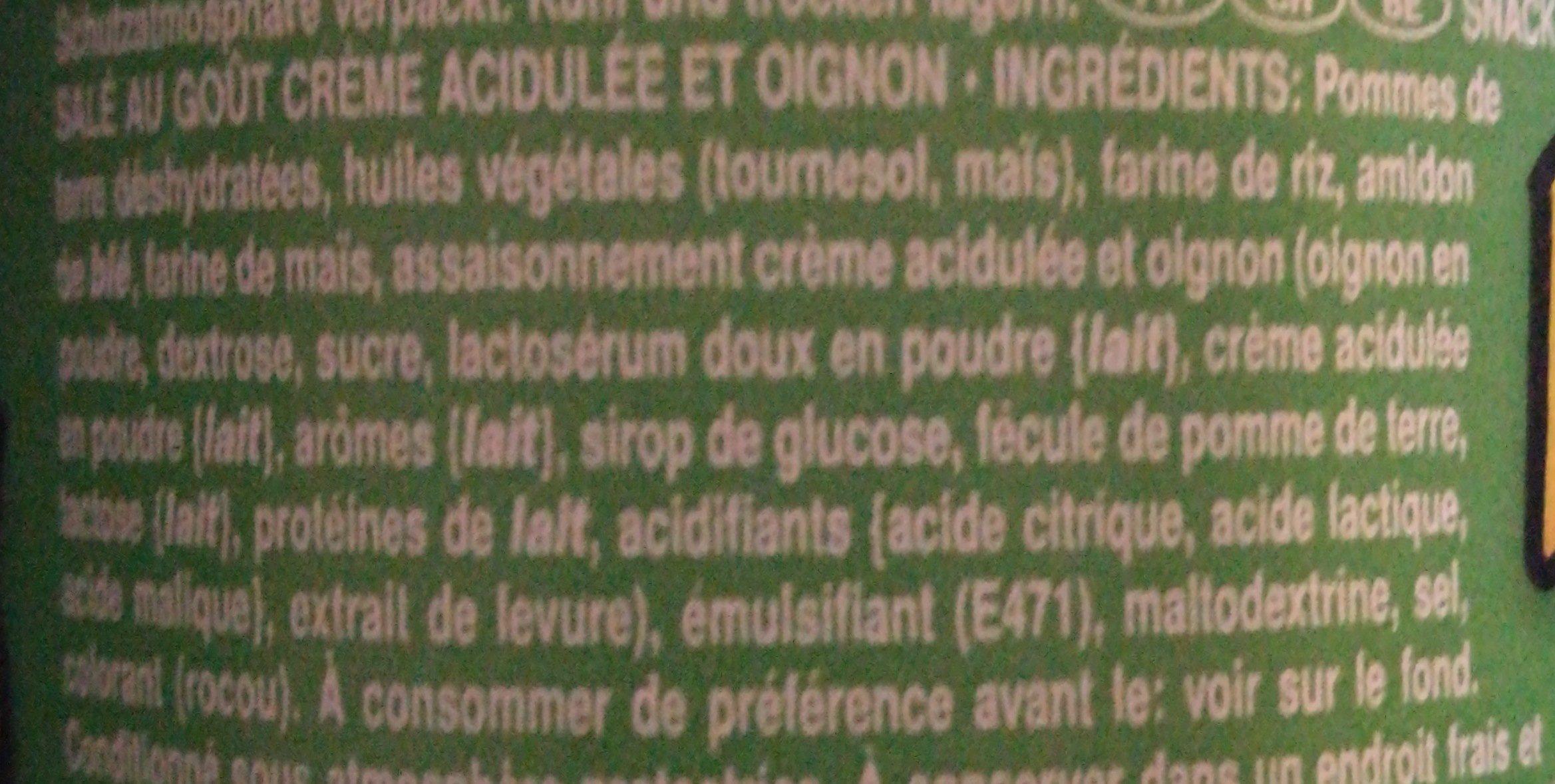 Snack salé goût crème acidulée et oignon - Ingredienti - fr