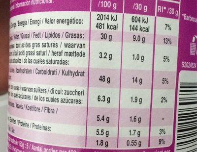 Pringles Tortilla Chips Smokey BBQ - Informations nutritionnelles - fr