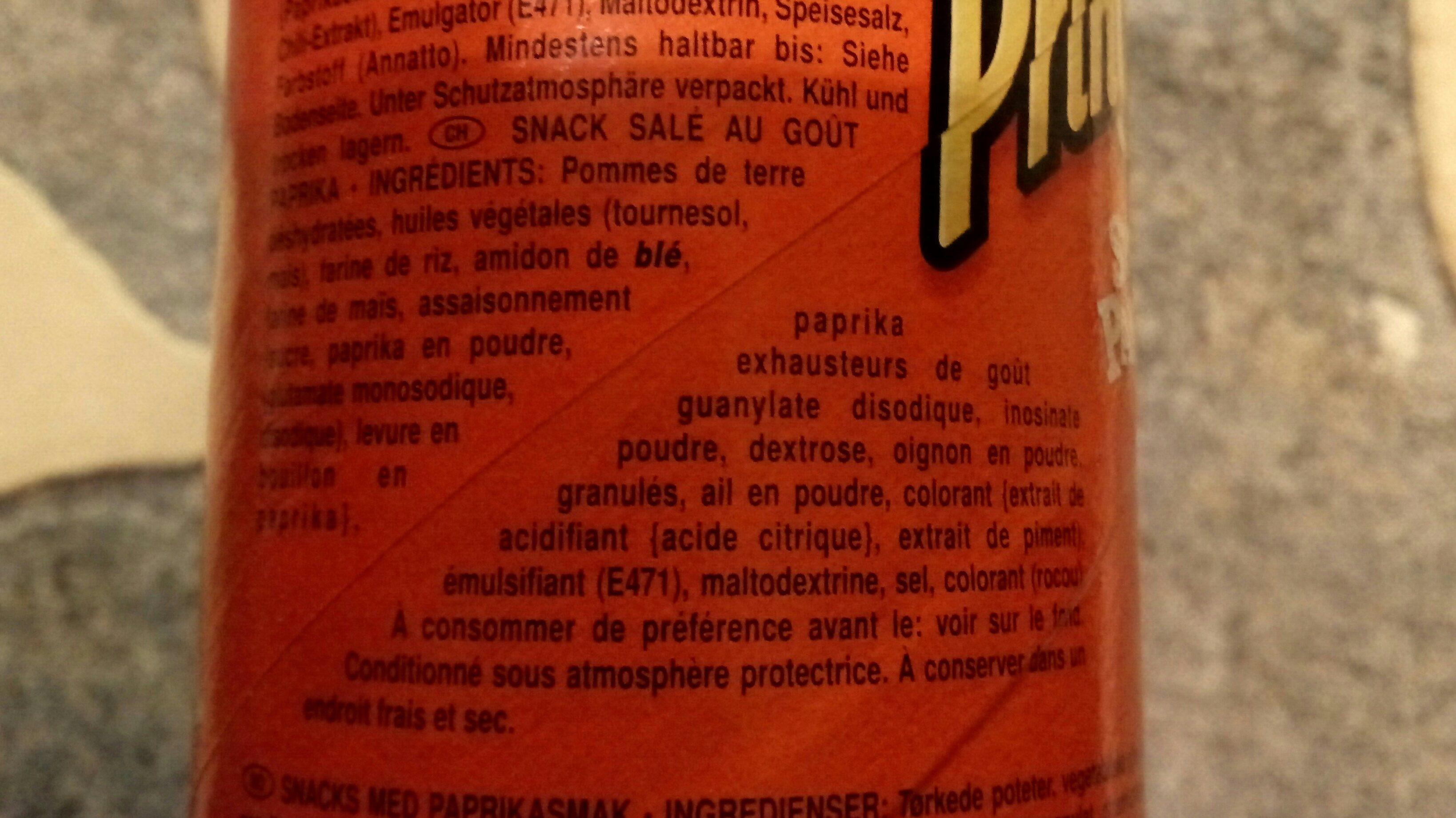 Sweet Paprika - Ingrediënten - fr