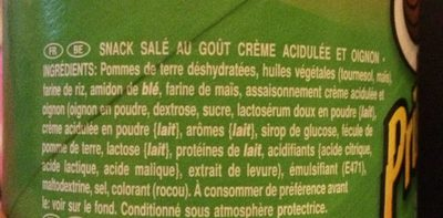 Sour Cream & Onion - Ingredientes