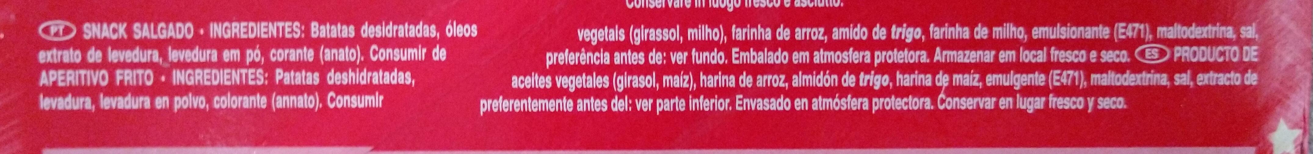 Pringles Original - Ingredientes - pt
