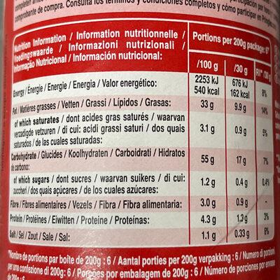 Pringles Original - Nutrition facts - en