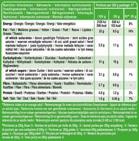 Sour Cream & Onion - Valori nutrizionali - de