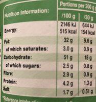 Sour Cream & Onion - Nutrition facts - en