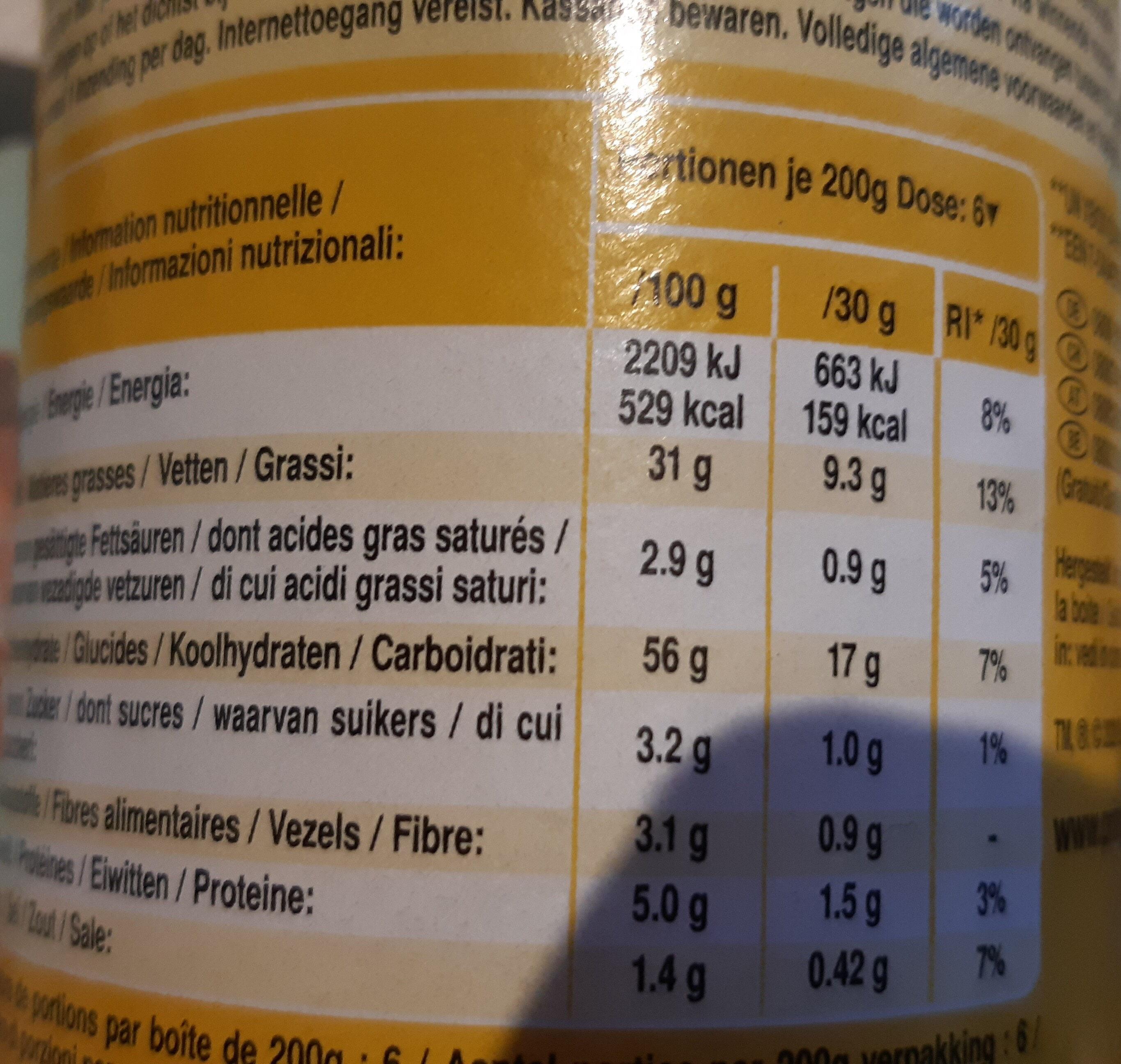 Pringles Sweet Paprika - Nährwertangaben - de