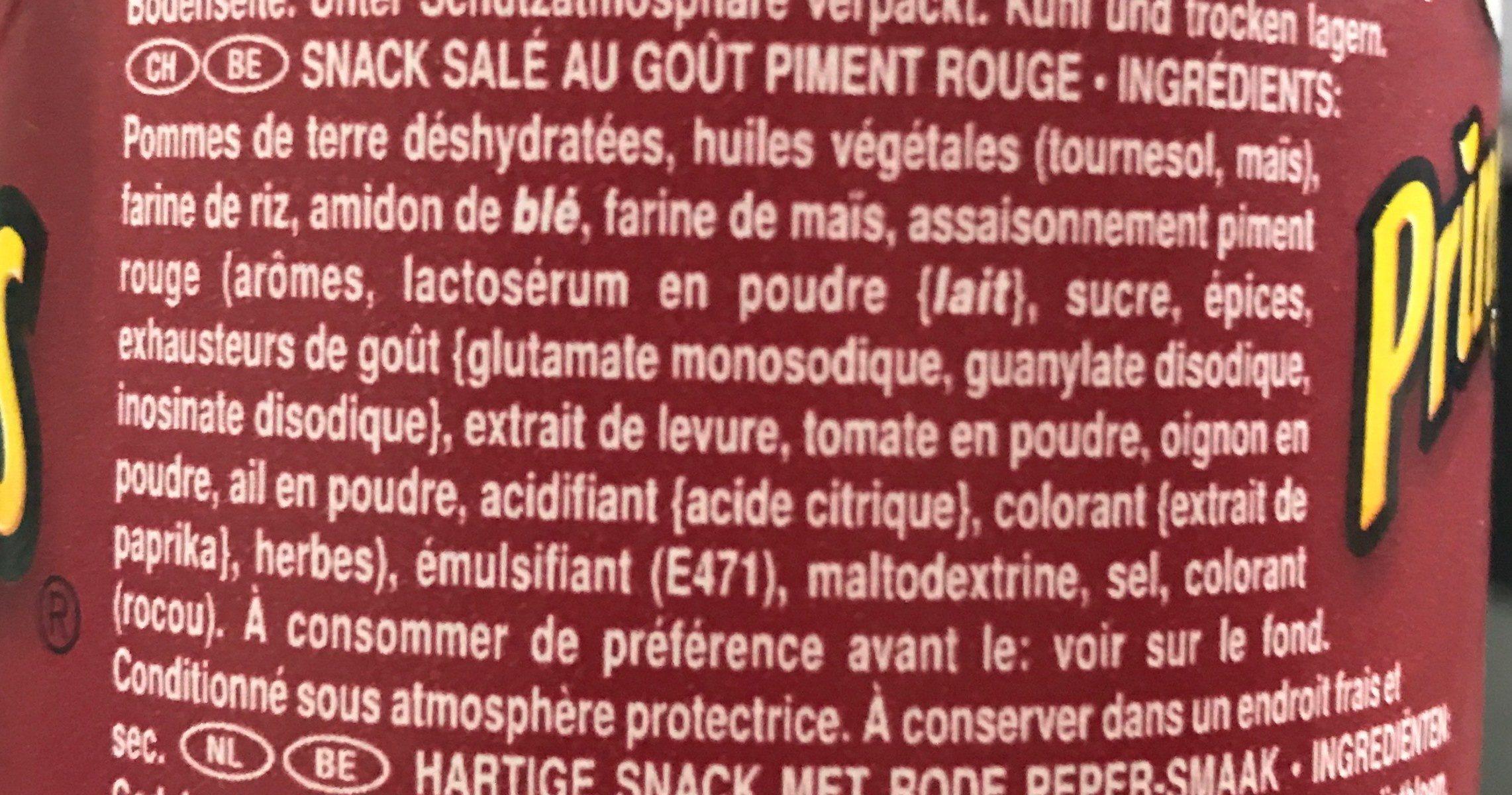 Chips - Ingredientes