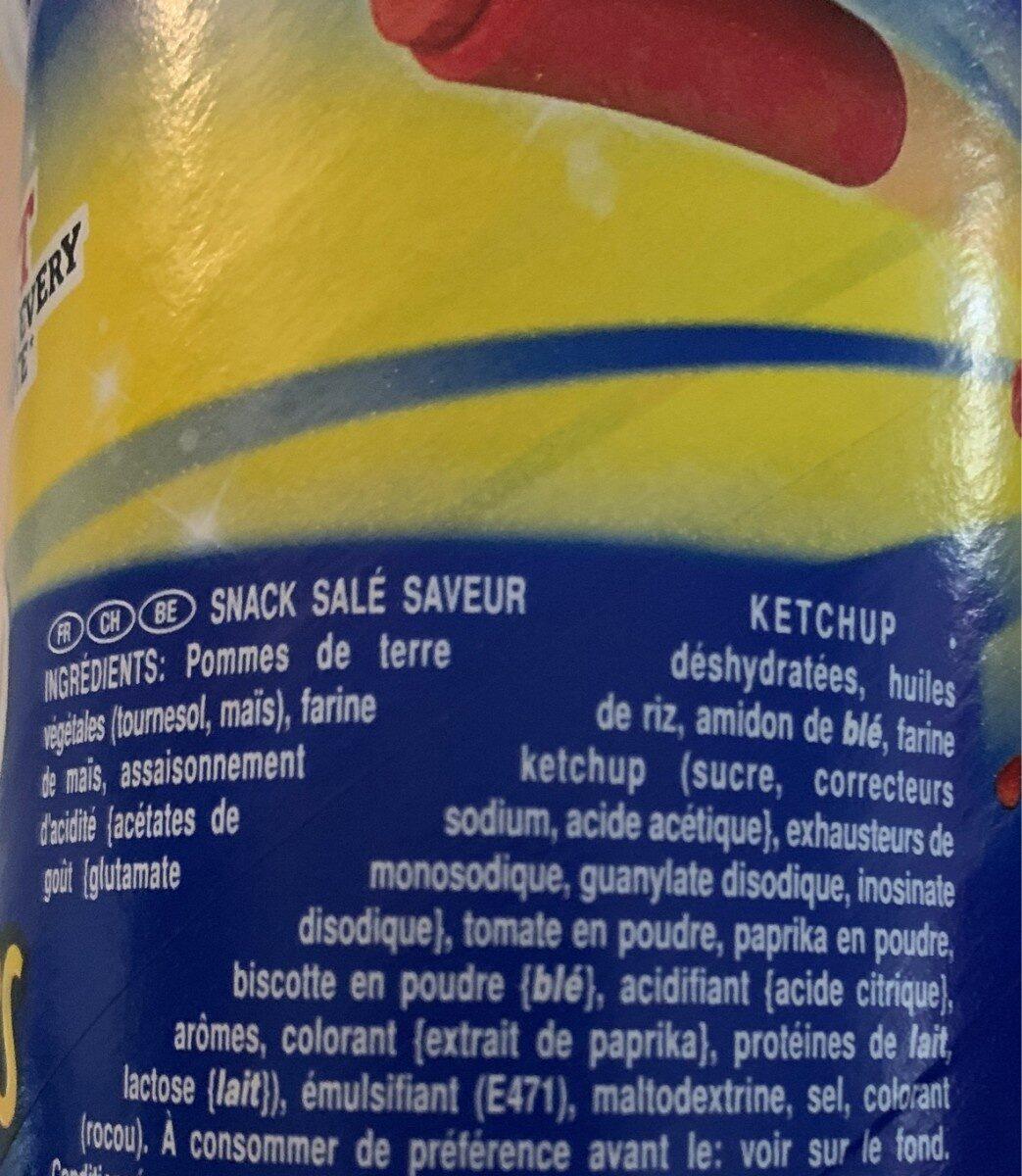 Pringles ketchup - Ingredientes