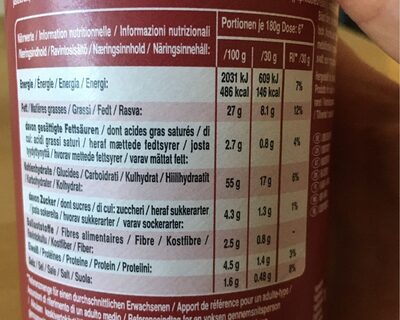 Rice fusion Malaysian Red Curry - Informations nutritionnelles - de