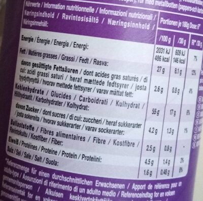 Rice fusion: japanese BBQ teriyaki flavour - Nutrition facts