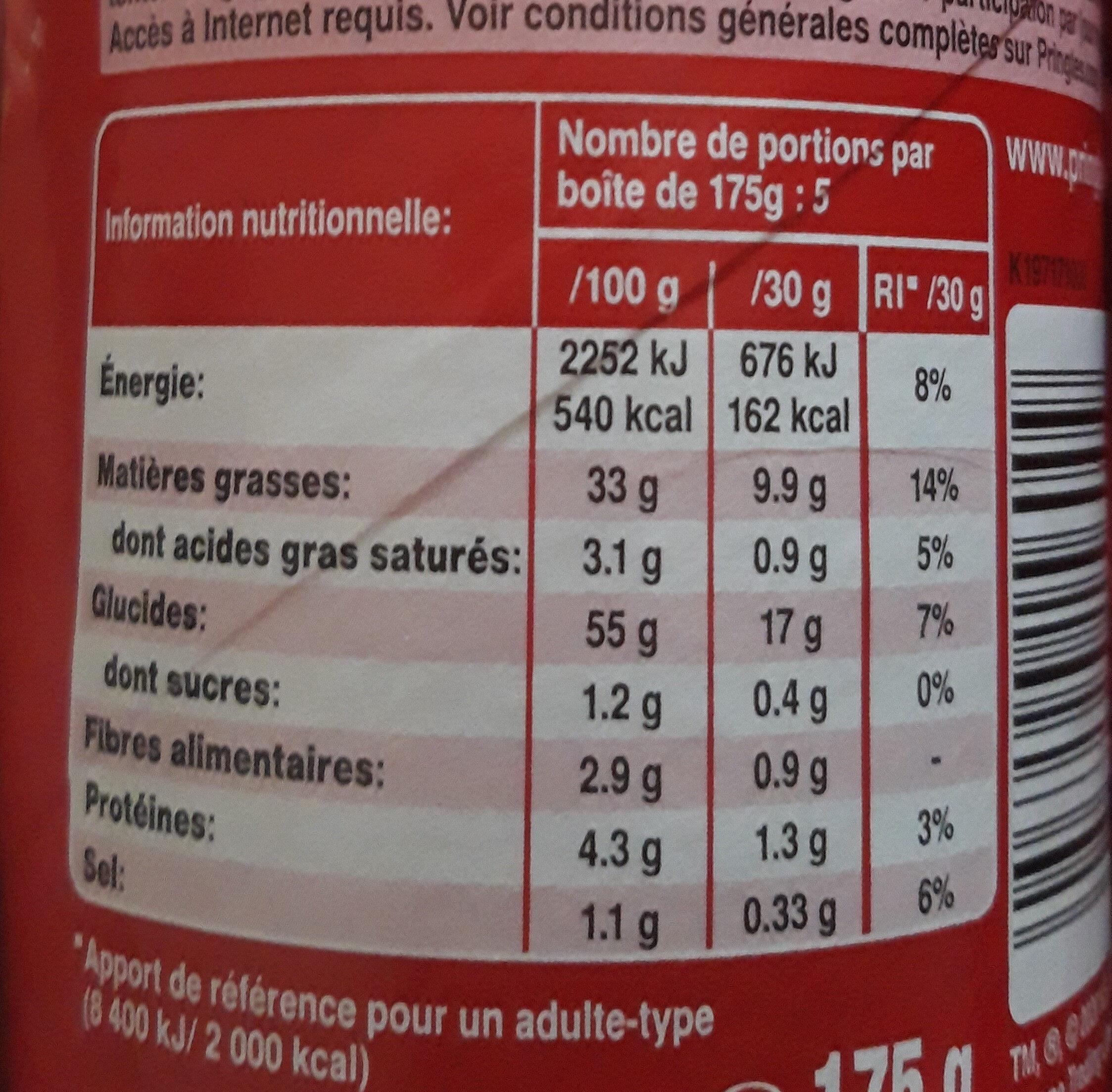 Pringles original - Ingredients - fr