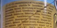 Pringles focaccia - Ingrediënten - de