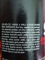SZZL'N EXTRA HOT CHEESE & CHILLI - Ingrédients - en