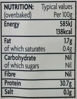 Chicken Breast Fillet Portions - Nutrition facts
