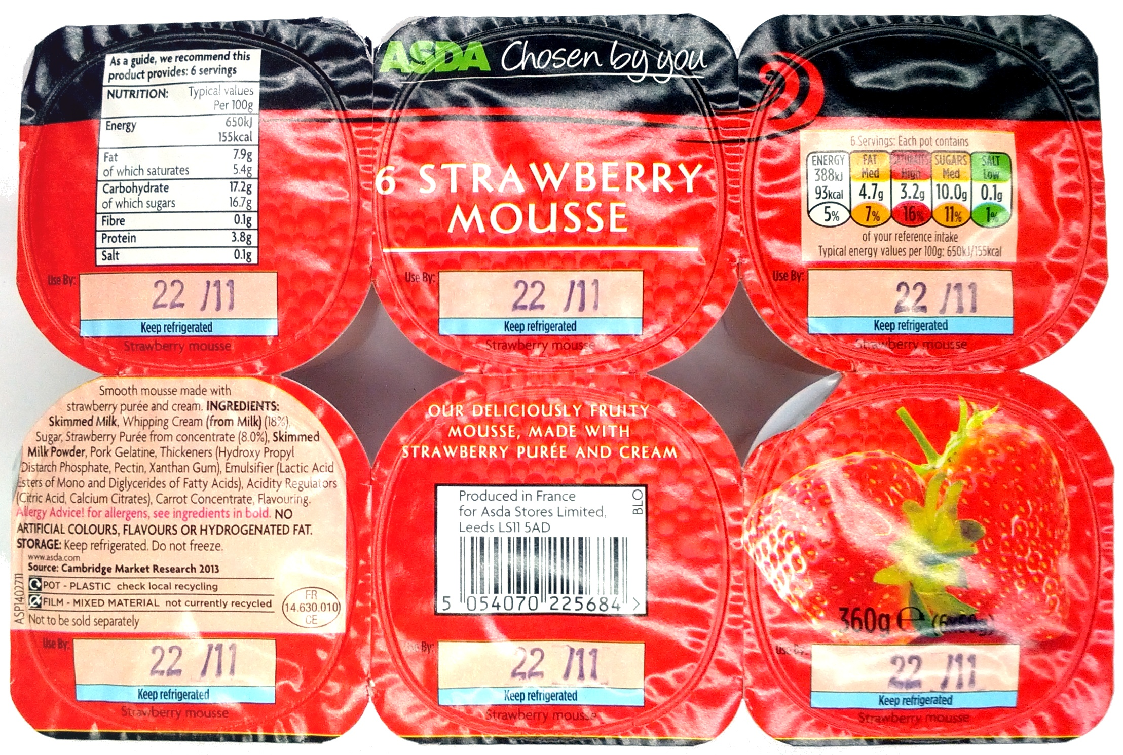 6 Strawberry Mousse - Product - en