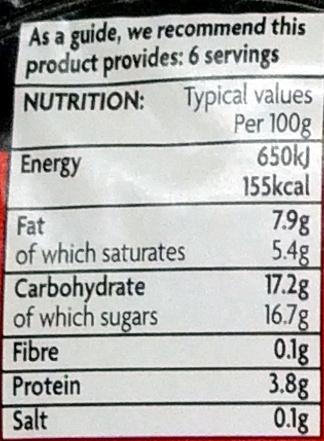 6 Strawberry Mousse - Nutrition facts - en