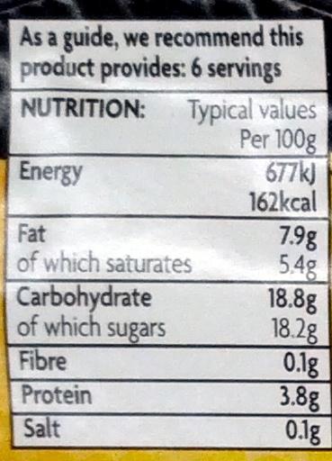 6 Lemon Mousse - Nutrition facts - en