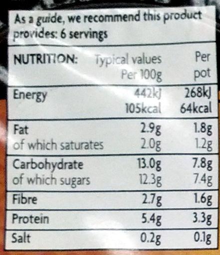 40% Less Fat Chocolate Mousse - Nutrition facts - en