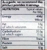 6 Crème Caramel - Nutrition facts - en