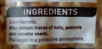 Popcorn - Ingredients