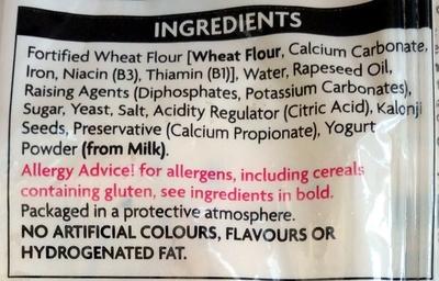 4 Plain Nans - Ingredients - en