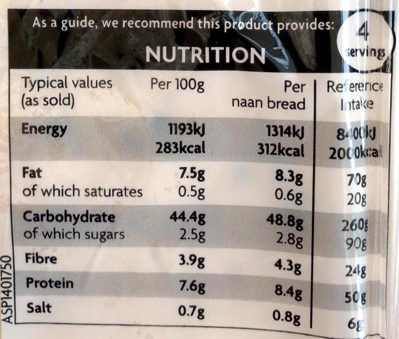 4 Plain Nans - Nutrition facts - en