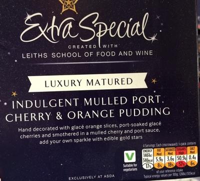 Indulgent Mulled Port Cherry & Orange Pudding - Product - en