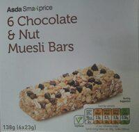 Chocolate & Nut muesli bar - Product