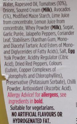 squeezy guacamole - Ingredientes - en