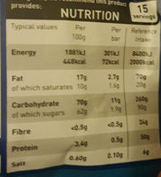 Whirly bars - Informations nutritionnelles - en
