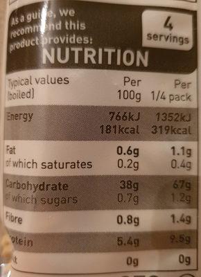 Egg noodles - Nutrition facts