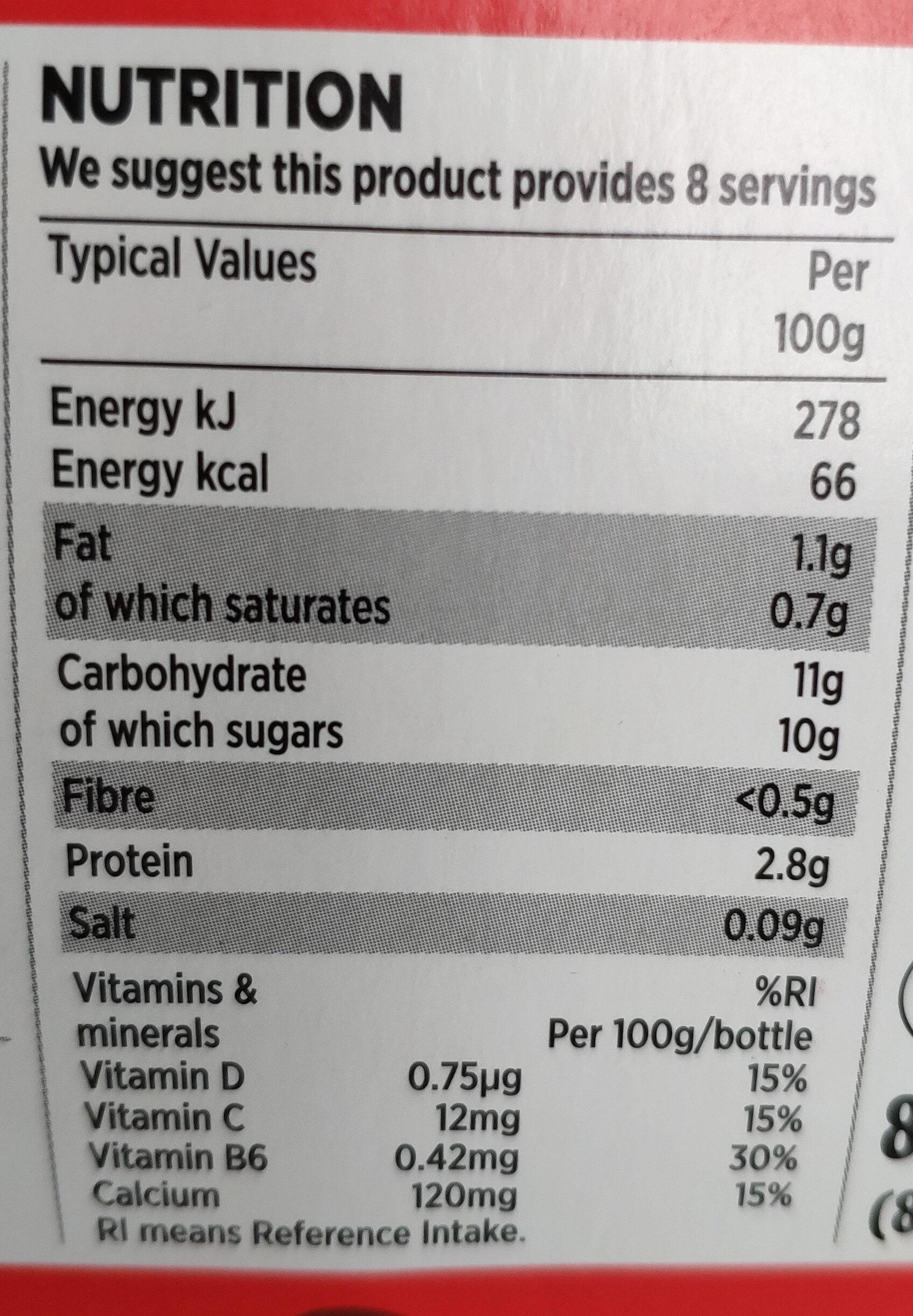 Vitamin Boosting Yogurt Drinks - Voedingswaarden - en