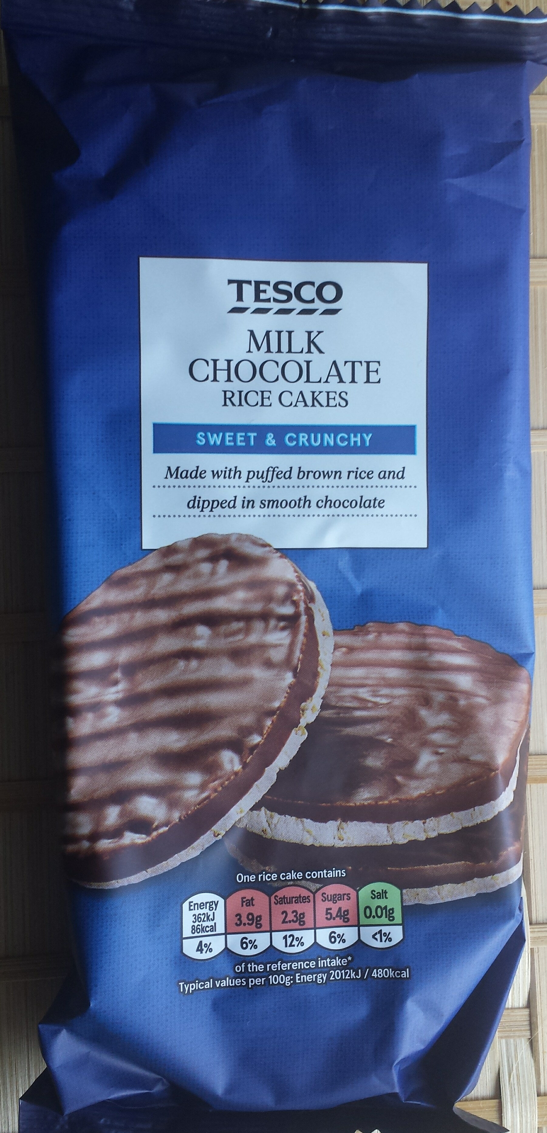 Milk Chocolate Rice Cakes Tesco 70 G