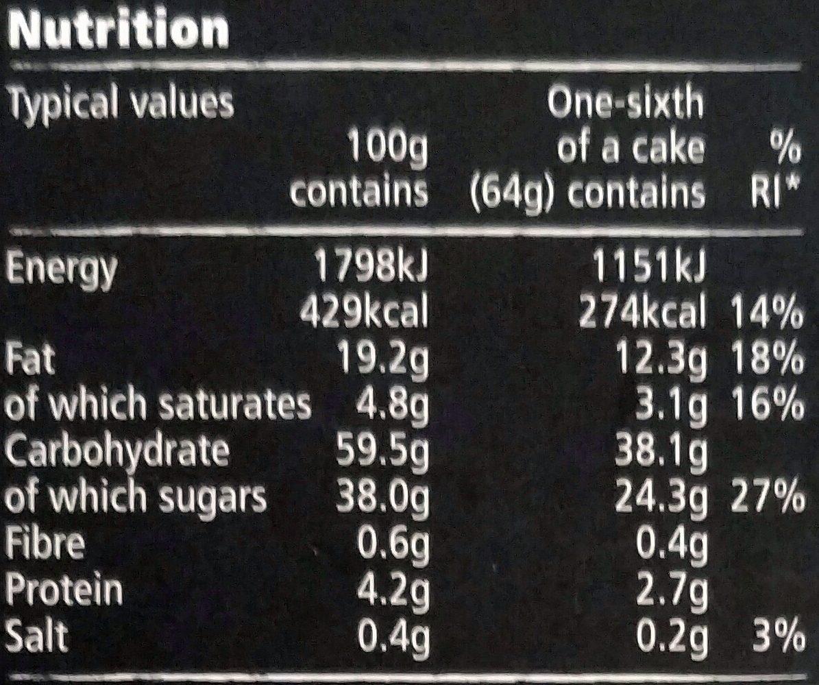 Tesco Finest Red Velvet Cake - Informations nutritionnelles