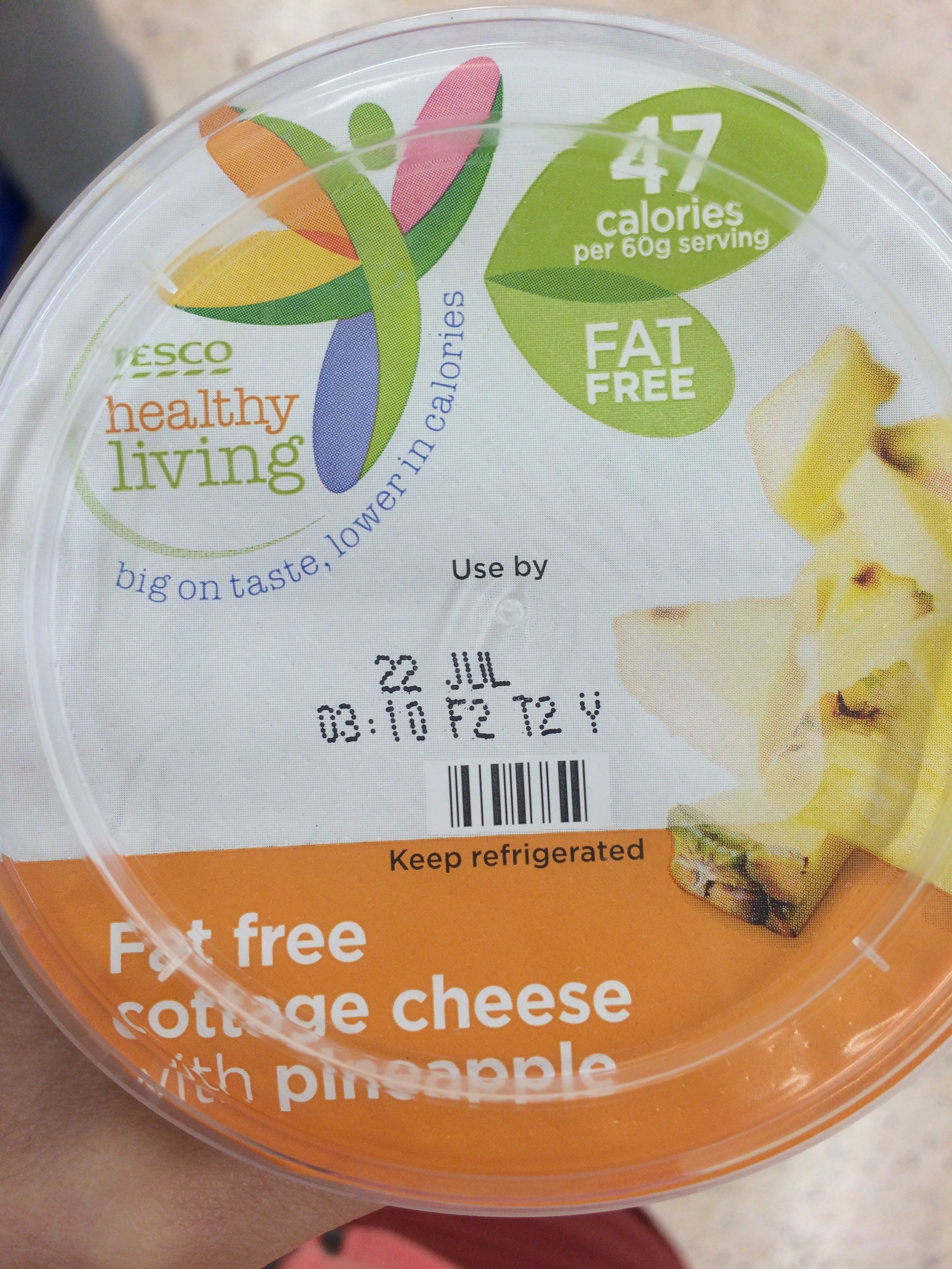 Fat Free Cottage Cheese With Pineapple