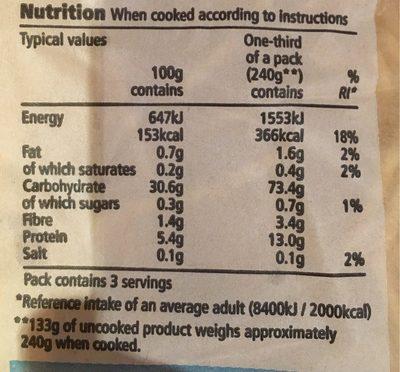 Tesco Fresh Egg Spaghetti - Nutrition facts