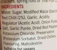 Tesco sweet chilli sauce - Ingredients