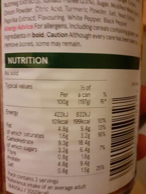 Meatballs in tomato sauce - Nutrition facts
