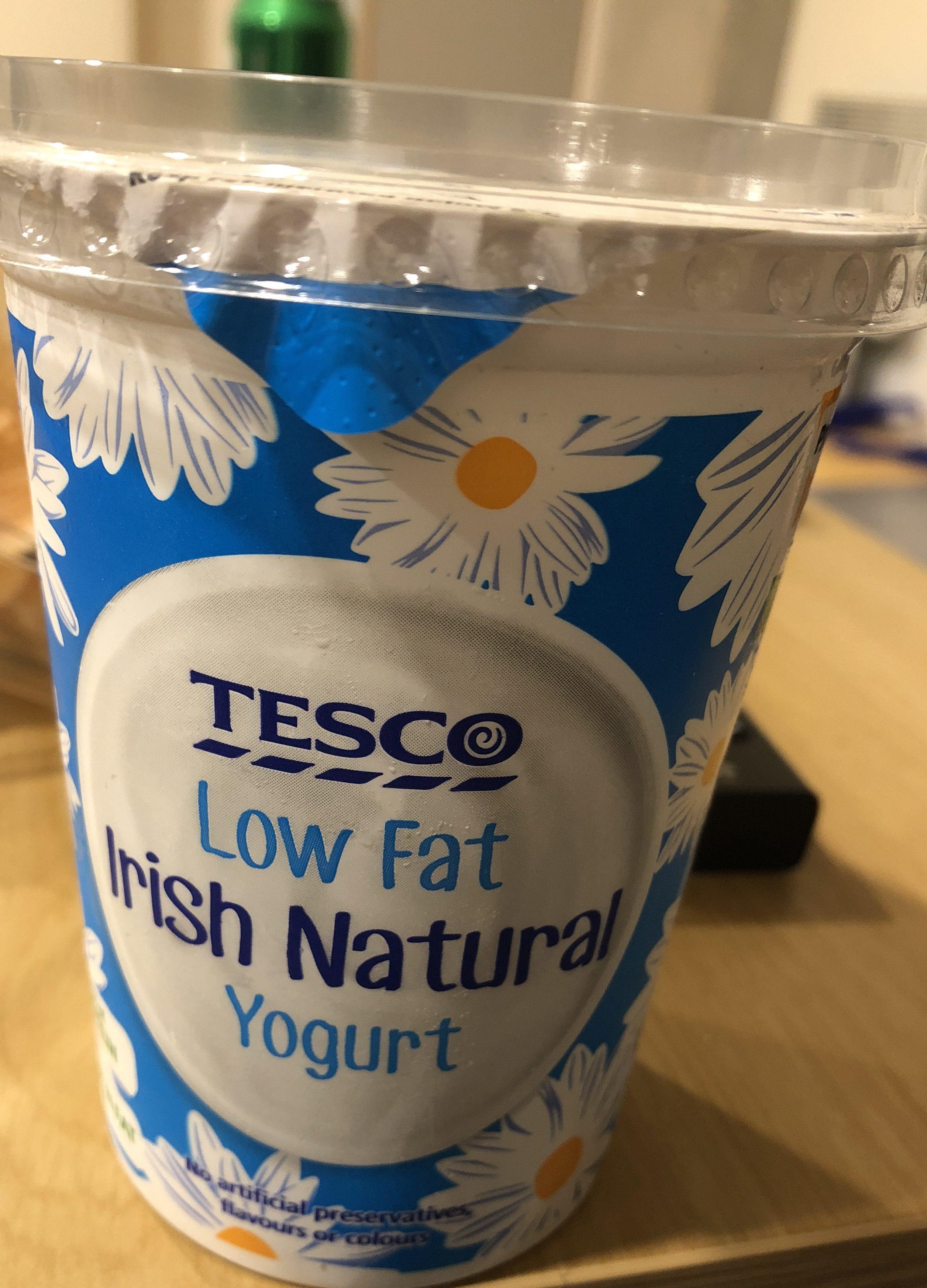 Tesco Low Fat Natural 500G - Ingrediënten - fr