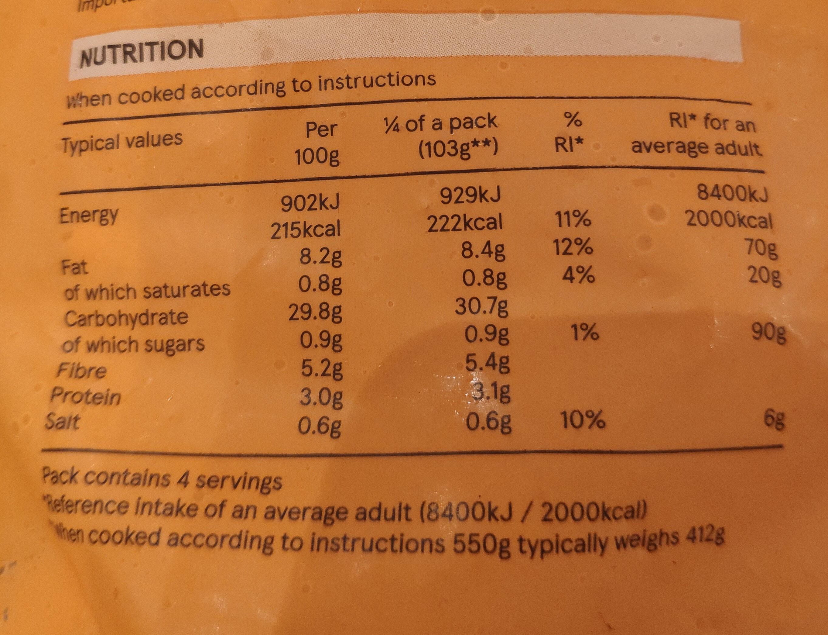 Potato lattices - Nutrition facts - en