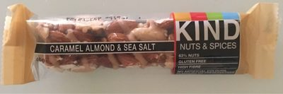 Kind Nuts & Spices Caramel Almond & Sea Salt Bar - Produit - en