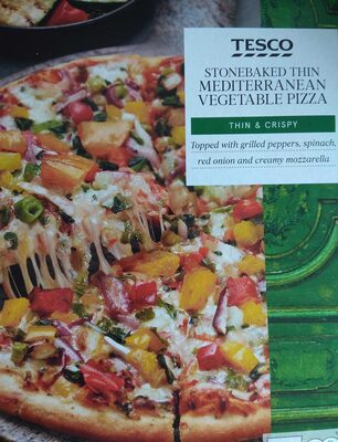 Stone baked Thin Mediterranean Vegetable Pizza - Product - en