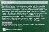 Stone baked Thin Mediterranean Vegetable Pizza - Ingredients - en