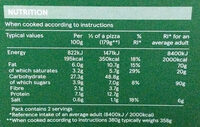 Stone baked Thin Mediterranean Vegetable Pizza - Nutrition facts - en