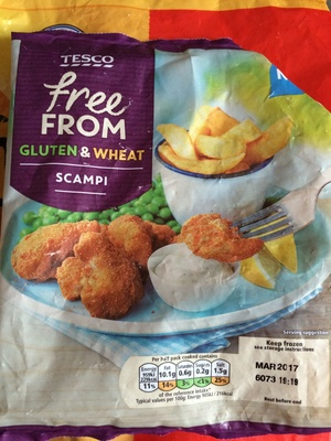 Free From Gluten and Wheat Free Scampi - Product - en