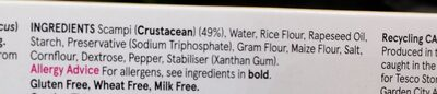 Free From Gluten and Wheat Free Scampi - Ingredients - en