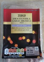 Tesco smooth pork and Brussels pate - Product - en
